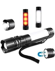 SIMBR Linterna LED con la función de advertencia 3 Modos de brillo para actividades al aire libre a prueba de agua Con base magnética linterna ligera y portátil