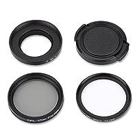 Acouto Filtro de Lente Protectora CPL + UV 37 mm para cámara de acción y...