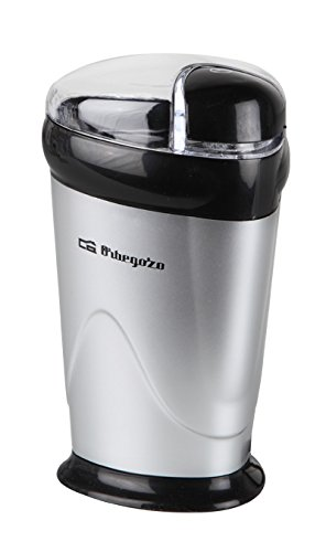 Orbegozo MO-3250 MO 3250-Molinillo de café, 150 W, Acero Inoxidable, Negro, Plata
