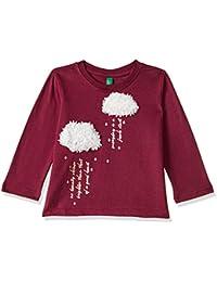 United Colors of Benetton Girls' Regular Fit Plain T-Shirt