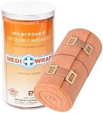 Mediwrap Crepe Bandage,10 cm X 4m(4, Brown)