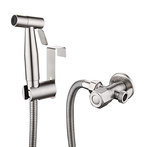Toilet Handheld Bidet Sprayer Sus304 Stainless Steel Cloth Diaper Sprayer Shattaf Complete Kit With 1 5m Hose Valve And Sprayer Holder Buy Online In India Missing Category Value Products In India