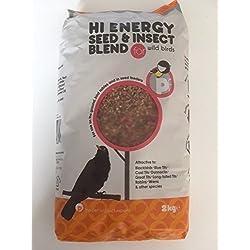 Hi Energia Semilla y Insecto Mezcla para silvestres Pájaros - 2KG