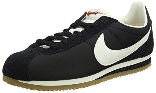 Nike classic cortez, sneaker uomo, nero (black/sail-gum light brown), 40.5 eu