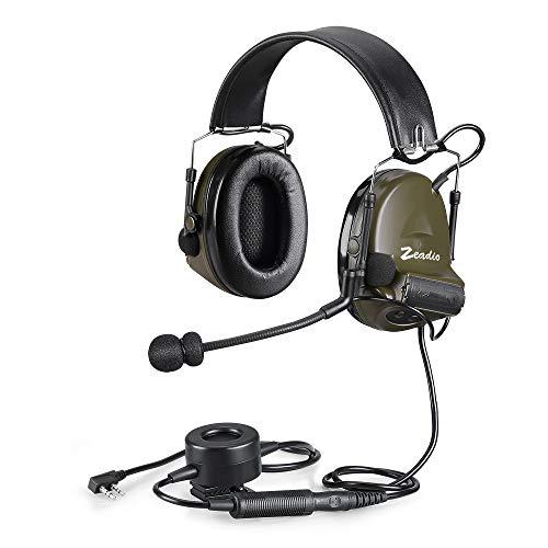 Headset, mit automatischer Geräuschunterdrückung, runde Hörmuscheln, mit PTT, 2 Pin Kenwood Baofeng Puxing Quansheng Weierweii WoUXUN HYT Radio usw. -