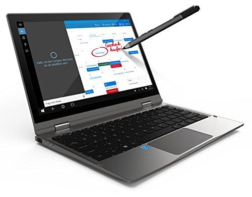 Odys Vario Pro 12 295 cm 116 Zoll HD Convertible Tablet PC Intel Atom Quadcore x5 Z8350 2GB DDR III L RAM 32GB expensive HDD Win 10 titangrau Notebooks