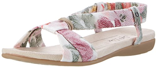 Softline28160 - Sandali aperti Donna Multicolore (Flower Comb. 908)