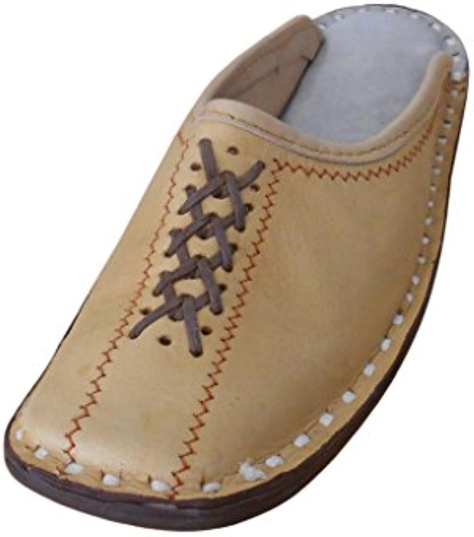 kalra Creations Hombre tradicional indio étnico Slipper – Zapatos de piel