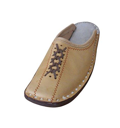 Kalra Creaciones Hombres Zapatos de Zapato de Piel Tradicional de la India étnica, Color Marrón, Talla...