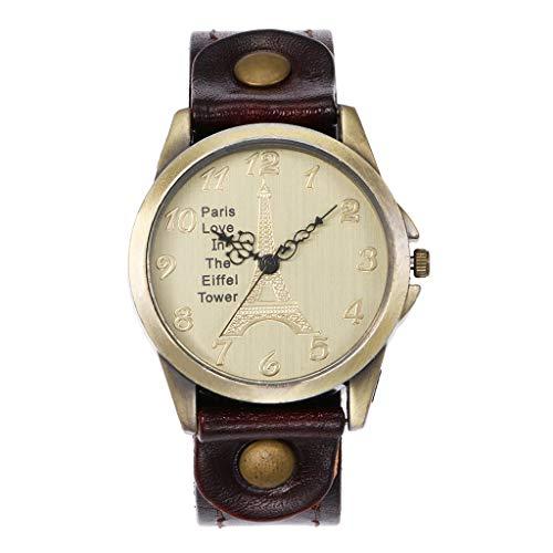 Damen Armbanduhr FGHYHCCQ Schöne Mode Einfache Uhr Damen Ledergürtel Uhr Für Geschenk Einfach Watch(F) -