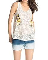EDC by Esprit Women's Embro Tank Sleeveless T-Shirt