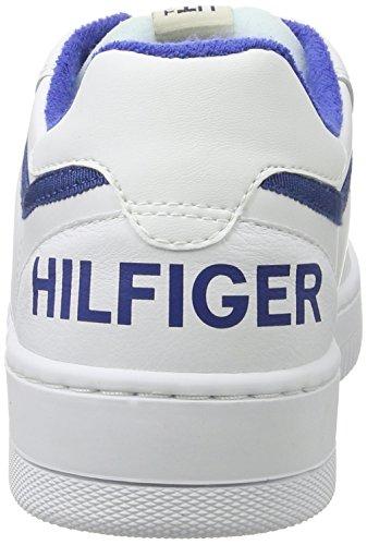Hilfiger Denim P2385layer 2a, Scarpe da Ginnastica Basse Uomo Bianco (White-monaco Blue)