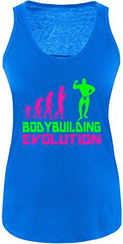 EZYshirt® Bodybuilding Evolution Damen Tanktop Royal/Pink/Neongr