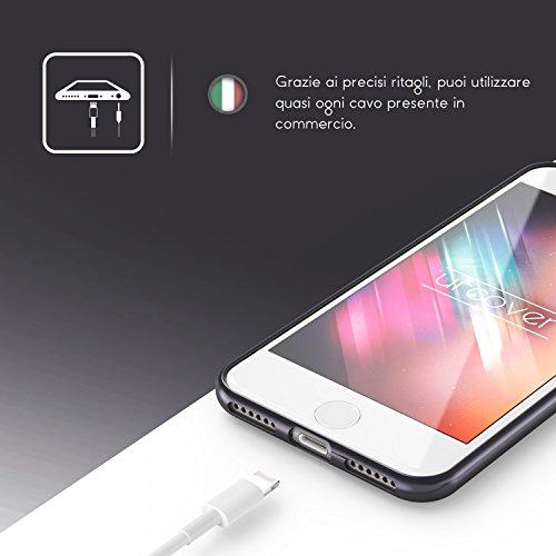 iPhone 7 Coque, Urcover Housse Souple Oriental Glittery Diamant Brillant Strass Étui Apple iPhone 7 Case Argent - Blanc Bling Téléphone Smartphone Noir / Blanc