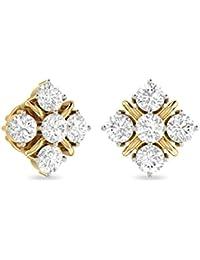 PC Jeweller The Nital 18KT Yellow Gold & Diamond Earring