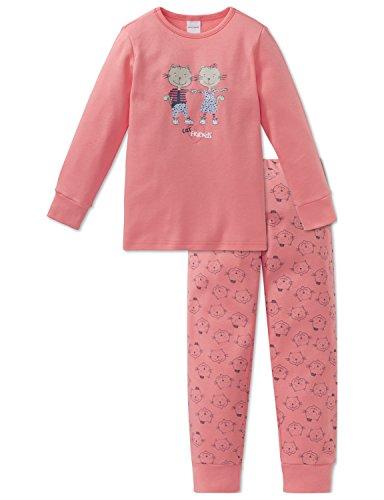 Schiesser Mädchen Cat Zoe Md Anzug lang Zweiteiliger Schlafanzug, Rot (Koralle 517), 116 -