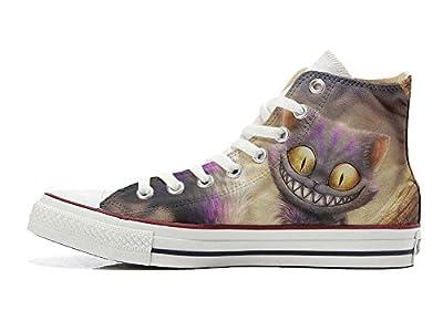 Converse All Star personalisierte Schuhe - Handmade Shoes - Katzenaugen