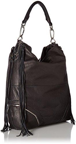 Liebeskind Tokio F7 Sac à main porté épaule cuir 38 cm Schwarz (nairobi Black)