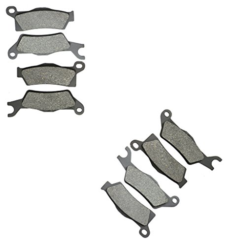 Halbmetallische Bremsbelage Set fit for CAN-AM ATV Bike 1000 Outlander Max 4x4 DPS XT XT-P cc 1000cc 13 14 15 2013 2014 2015 8 Pads - Am 2013 Outlander Can
