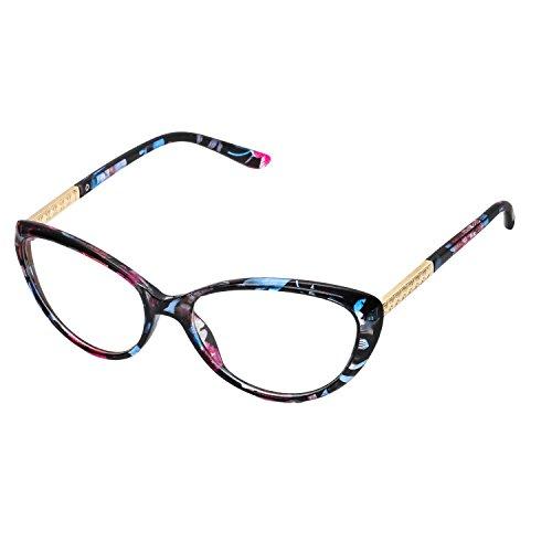 Forepin® Katzenauge Elvis Stil Brille Rahmen 50er 60er -