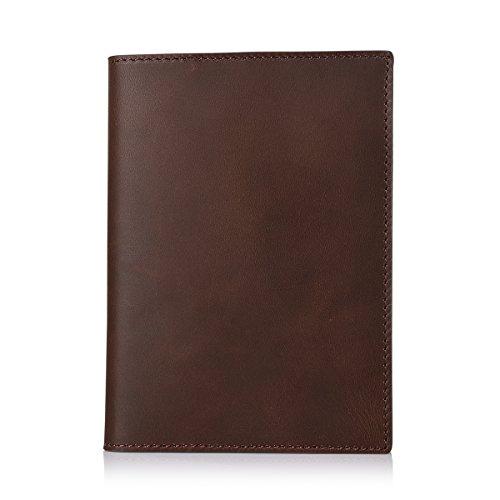 klassisches handgefertigtes Business Notizbuch mit Lederhülle, 23 x 16,6 cm, nachfüllbar mit 6-fach Ringbuch. Tagebuch, Journal, Schreibblock oder Notizbuch für den Alltag und auf Reisen (Braun)