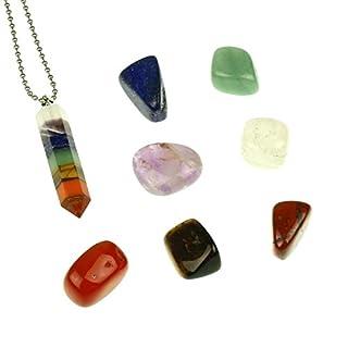 8 pcs Chakra Crystal Healing Kit! Lot of Chakra tumbles, Amethyst,Lapis Lazuli,Lava Chakra,Red Agate,Amber,Tiger Eye,Turquoise Gift Set!