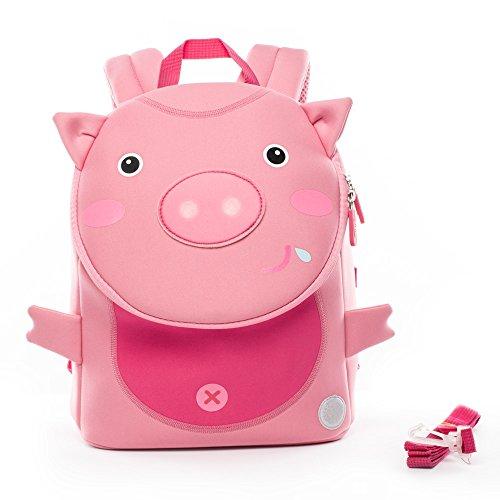 Sicherheit Anti-verlorene Leine Tier-Themen-Baby Schultasche von Cocomilo (Rosa Schwein) (Baby-themen-essen)