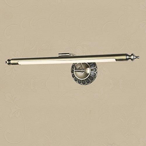 KYDJ LED feux Avant Miroir européen toilettes miroir américain lampe étanche avant salle de bains miroir éclairage lumière Dresser ( Couleur : Vert-bronze de procéder à des grandes cm 11w )