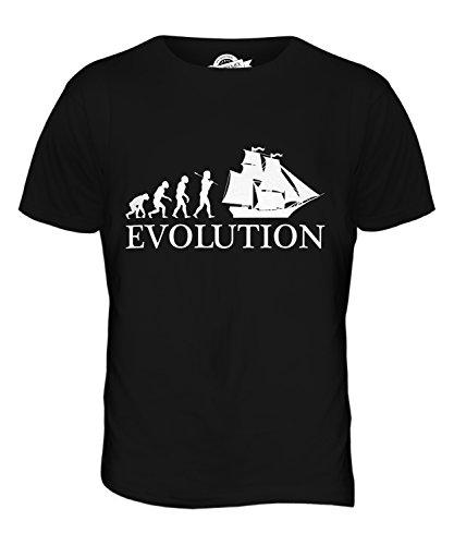 CandyMix Brigantine Evolution Des Menschen Herren T Shirt Schwarz