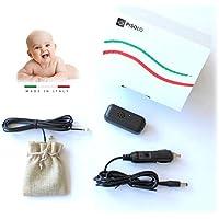 PISOLO - Made in ITALY - Dispositivo Antiabbandono bimbi con sensore - NO App NO Bluetooth NO Onde Radio - Sistema a Norma di Legge Anti Abbandono per sicurezza bambini su seggiolino auto