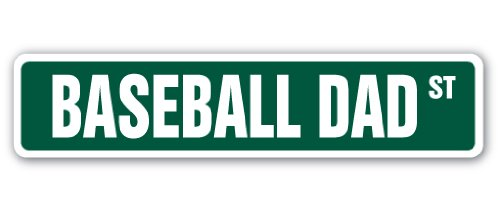 SignMission Baseball Dad Street-Kinder, die Namen Raum Schild     45,7cm Breit (Pe-uniformen)