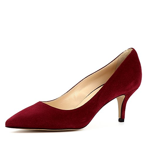 Evita Shoes Giulia Damen Pumps Rauleder Bordeaux 38