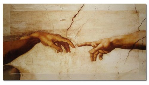Bilderdepot24 Wandbild - Michelangelo Creation of Adam - 100x60cm -