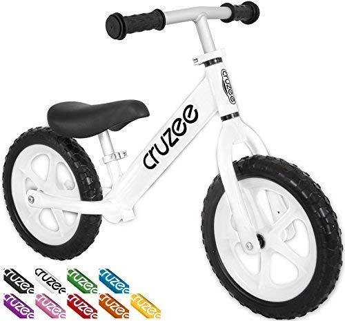 Cruzee Balance Bike (4.4 lbs) für Kinder ab 1,5 bis 5 Jahre (weiß)