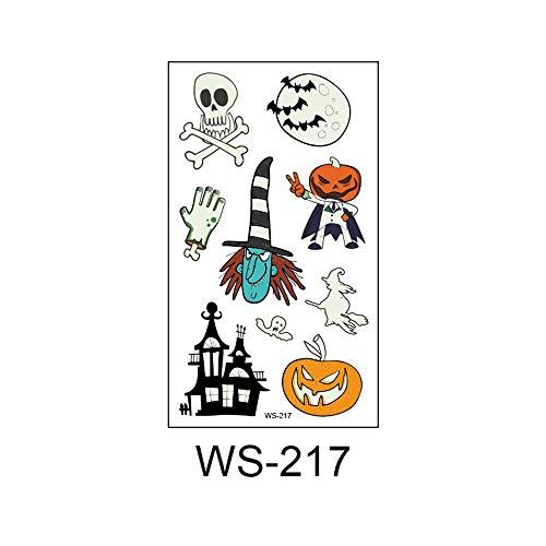 3Pcs-Environmental Halloween Kinder Nachtlicht Tattoo Aufkleber Party Party Atmosphäre Lustige Requisiten Tattoo Aufkleber 3Pcs-3