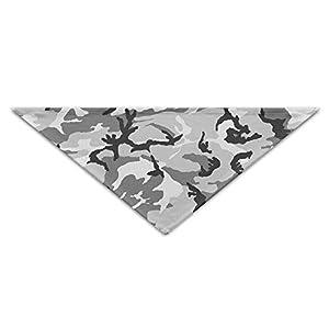 OUYouDeFangA Gris Militaire Camo Chiens Anniversaire Bandana Écharpe, Lavable Chiot Cat Foulard, Triangle Bavoirs Accessoire pour Petit Animal Domestique-Idée Cadeau