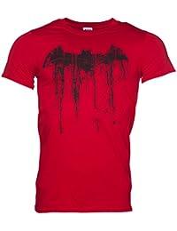 Batman Graffiti Logo Herren T Shirt Rot