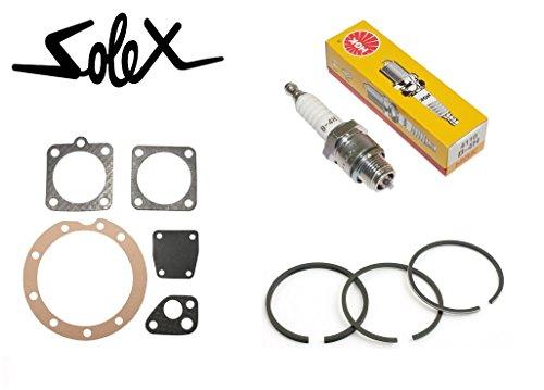 Kit Solex 220038005000Micron: Junta + membrana + bujía NGK B4H + segmento...
