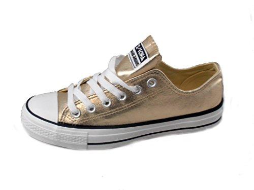 Rebelde , Damen Sneaker Gold