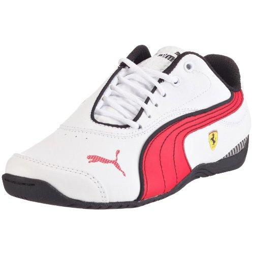 PUMA 303363 01 Drift Cat III L SF Jr, Unisex - Kinder Sneaker, Weiss (white-rosso corsa-black 01), EU 33, (US 2), (UK 1) (Puma Drift Cat Ii)