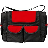 Bambisol SMFW Baby Changing Bag with Isothermal Compartment Black/Red - Compare prices and find best deal online