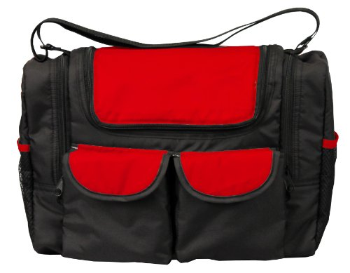 Bambisol SMFW - Bolsa de bebé con bolsillo térmico, color negro y rojo - Best Price