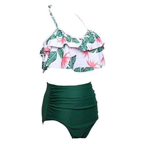 Republe Frauen Ruffle Peplum Frill Bikini Set weibliche hohe Taille Halter Badeanzug Mädchen Sommer Bademode Bademode