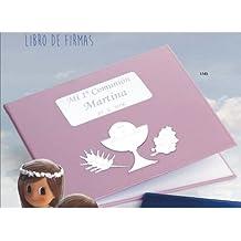 Libro de firmas para niña de comunión GRABADO libros PERSONALIZADOS