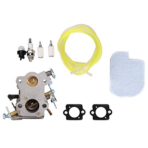 Mumusuki Vergaser Luftfilter Kraftstoffleitung Kit Fit für Poulan 545040701 PP4018 PP4218 P3314 PP3516 Rasenmäher Tune Up Kits Zubehör