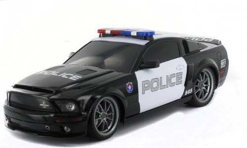 1/18 Ford Shelby GT500 Super Snake Radio Control Police Car RC with Light by XQ TOY (English Manual)