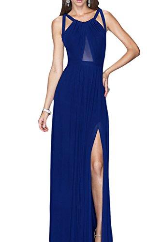 ivyd ressing robe style plein rueckenfrei fente mousseline Party Prom robe robe du soir Bleu - Bleu royal