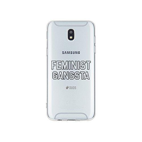 licaso Handyhülle für J5 Baujahr 2015 aus TPU mit Feminist Gangsta Print Design Schutz Hülle Protector Soft Extra