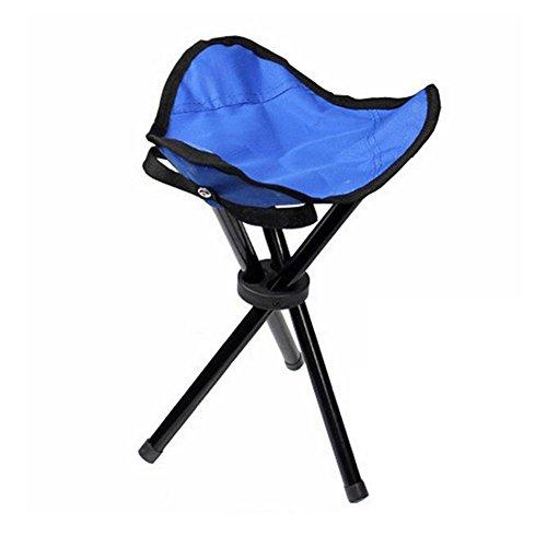 Cosanter Hocker Dreibeinhocker Faltbar Falthocker Comfort Stuhl für Fischen Camping auf der Jagd oder bei Outdoor Veranstaltungen,Blau