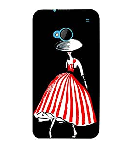 Girl In Red Dress 3D Hard Polycarbonate Designer Back Case Cover for HTC One :: HTC One M7
